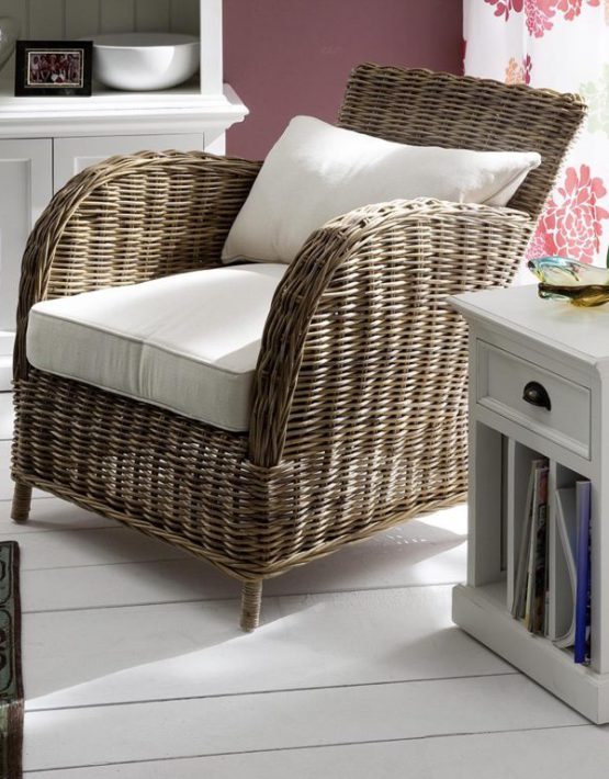 Rattan Wicker Arm Chair