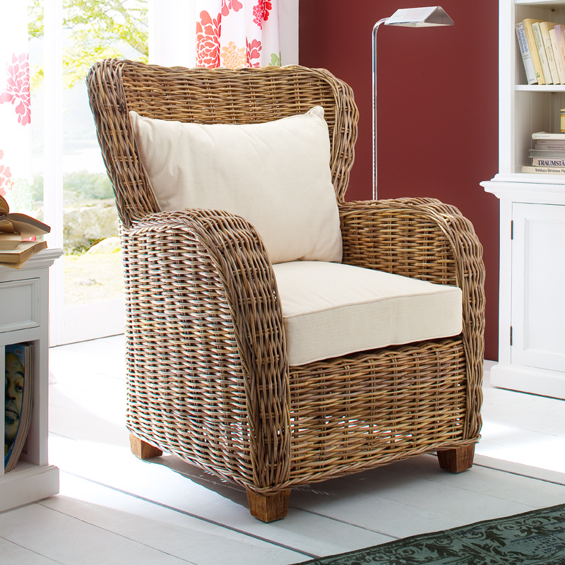 Queen Wicker Chair, Rattan Wicker Arm Chair ...